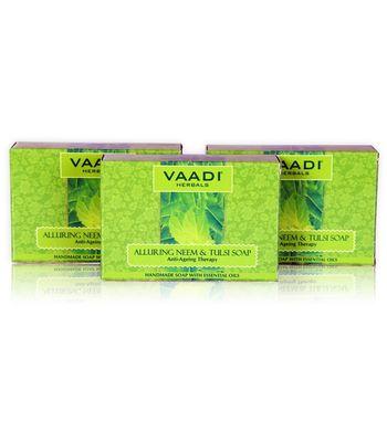 Alluring Neem-Tulsi Soap with Vitamin E & Tea Tree Oil