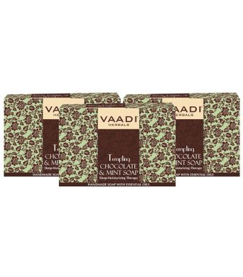 TEMPTING CHOCOLATE & MINT SOAP-Deep Moisturising Therapy (3 X 75 gms)