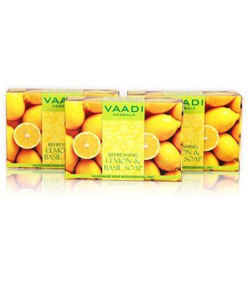 REFRESHING LEMON AND BASIL SOAP (3 X 75 gms)