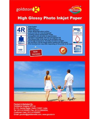 GoColor High Glossy Inkjet Paper 185 GSM 4R 4X6  100 Sheets