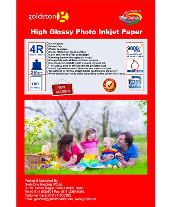 Gocolor High Glossy Inkjet Paper 210Gsm 4R 4X6  100 Sheets