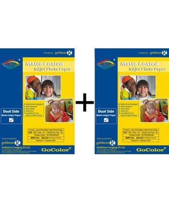 GoColor Duel Side Matte Coated Inkjet Paper 220 GSM A4 50 sheet X 2 Packs