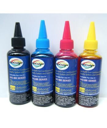 GoColor Premium Quality  Compt Brother Inkjet Ink 100 Ml 4 Color