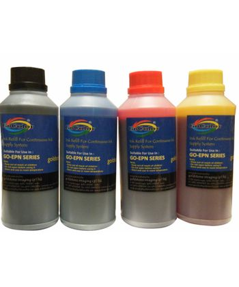 Gocolor Premium Quality Inkjet Ink 1000Ml X 4 Colors Combo for HP Printer