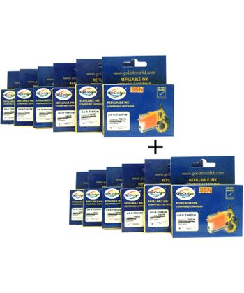 GoColor  Refillable Cartridges 85N Epson X 2 Packs Combo