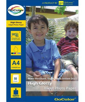 Gocolor High Glossy inkjet Paper 165Gsm A4  50 Sheets