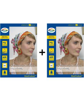 Gocolor High Glossy Inkjet Paper 220Gsm 4R 4X6  100 Sheets x 2 Packs Combo