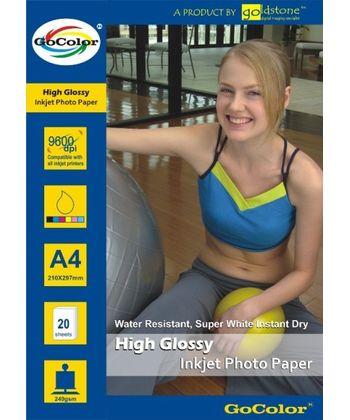 Gocolor High Glossy Inkjet Paper 240Gsm A4  20 Sheets