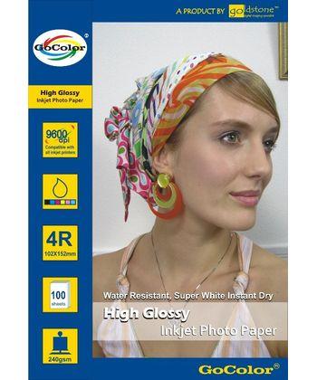 Gocolor High Glossy Inkjet Paper 240Gsm 4R 4X6  100 Sheets