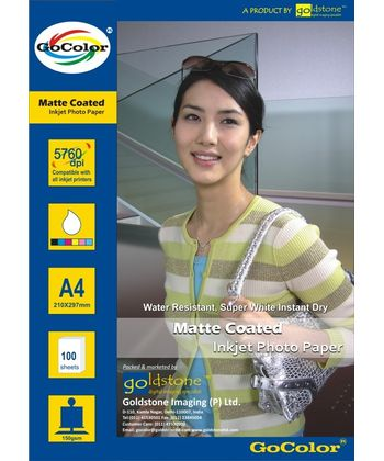 GoColor Matte Coated Inkjet Paper 150 GSM A4 100 sheet