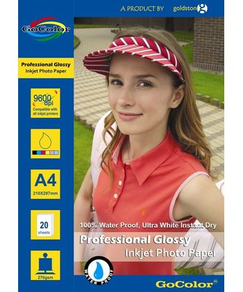 Gocolor Professional Glossy Inkjet Paper Waterproof 270Gsm A420