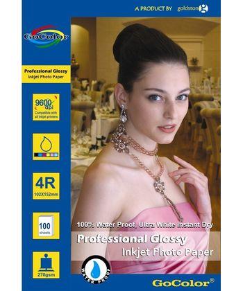 Gocolor Professional Glossy Inkjet Paper Waterproof 270Gsm 4R100