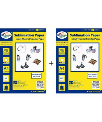 GoColor Sublimation Inkjet Paper 100 GSM A4 100 Sheet X 2 Packs Combo