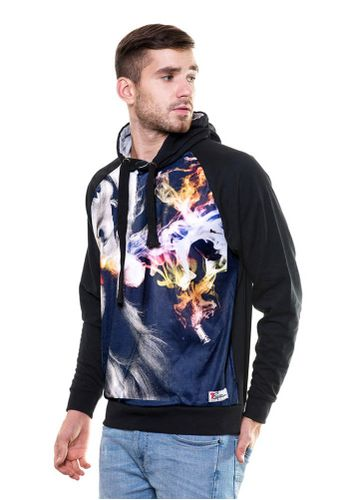 Digital Print Hukka sweatshirt with Hood