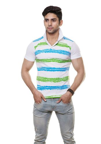 Striped  Polo Tshirt