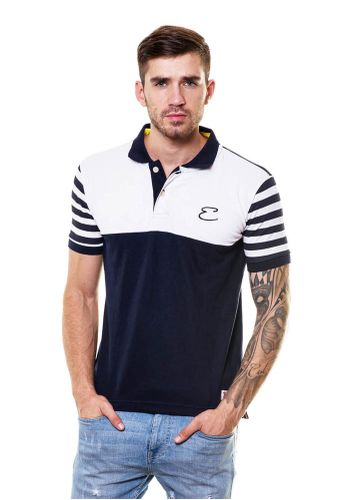 Printed Sleeves Polo Tshirt