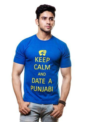 Keep Calm and Date a Punjabi Round Neck T Shirt