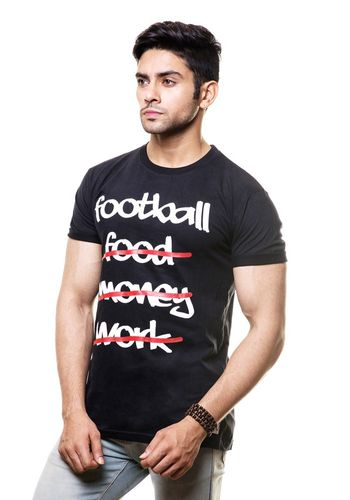 Addicted to football Round Neck T Shirt