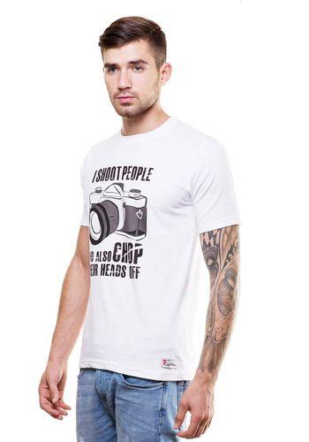 Camera Round Neck T Shirt