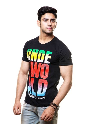 Underworld Typo Round Neck T Shirt