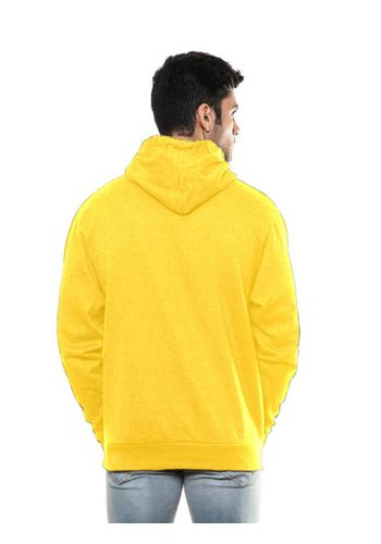 Solid Plain Yellow Sweatshirt with Hood