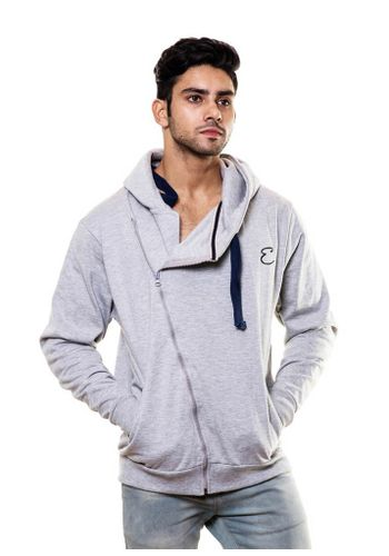 Side Zipper Sweatshirt with Hood