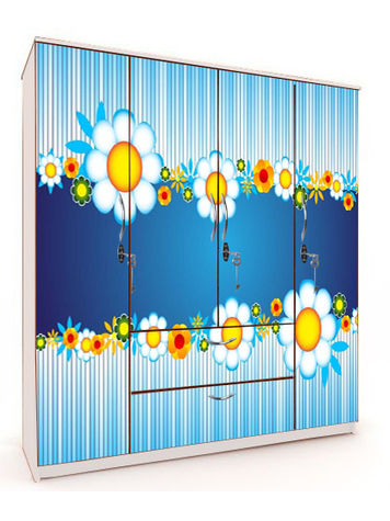 4 Door - Blue Sunflower