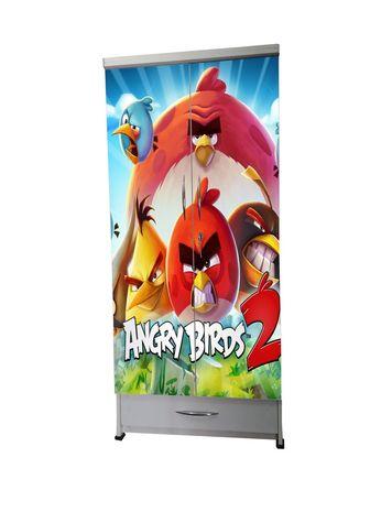 BigSmile Kids Wardrobe - Angry Birds (5.5ft x 2.5ft) Glossy Finish