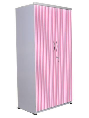 2 Door Wardrobe - Pink Stripes