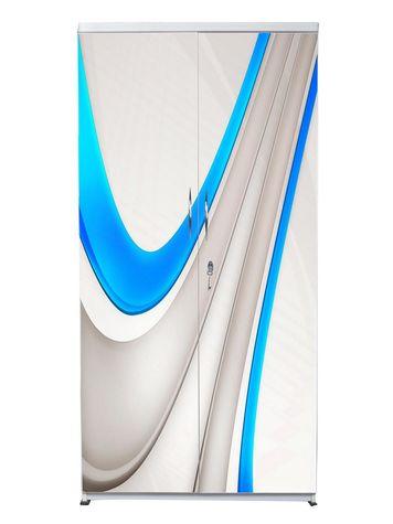 2 Door Wardrobe - Shining Blue
