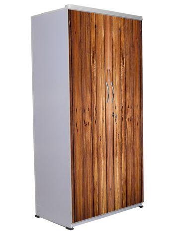 2 Door Wardrobe - Wooden Texture-07