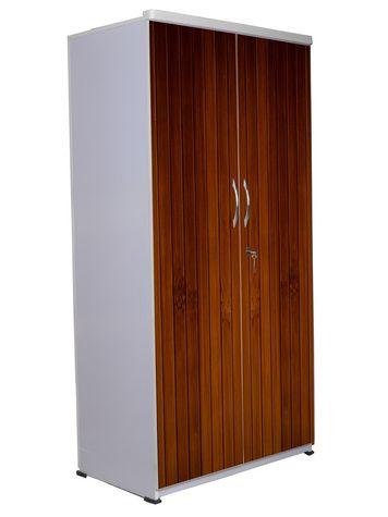 2 Door Wardrobe - Wooden Texture-10
