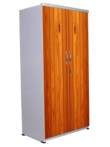2 Door Wardrobe - Wooden Texture-11