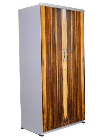2 Door Wardrobe - Wooden Texture-12