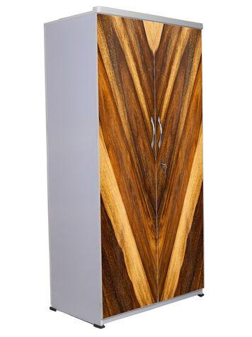 2 Door Wardrobe - Wooden Texture-14