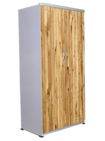 2 Door Wardrobe - Wooden Texture-15