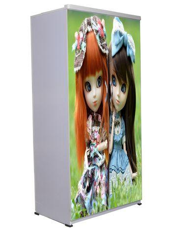 2 Door Wardrobe - Green Dolls