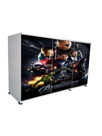 BigSmile 3 Door Multipurpose Storage Cabinet - Avengers (2.5ft x 4ft) Glossy Finish