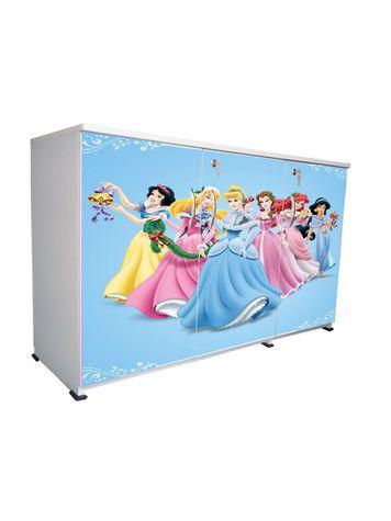 BigSmile 3 Door Multipurpose Storage Cabinet - Blue Princess (2.5ft x 4ft) Glossy Finish