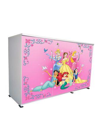 BigSmile 3 Door Multipurpose Storage Cabinet - Pink Princess (2.5ft x 4ft) Glossy Finish