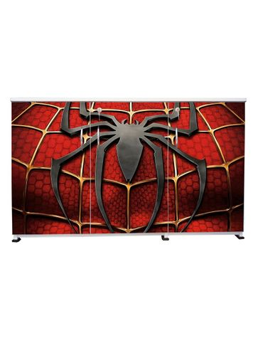 BigSmile 3 Door Multipurpose Storage Cabinet - Spider Web(2.5ft x 4ft) Glossy Finish