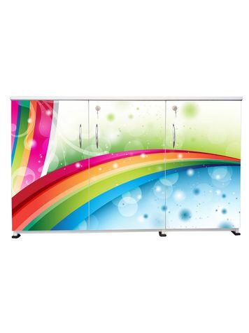 BigSmile 3 Door Multipurpose Storage Cabinet - Classy (2.5ft x 4ft) Glossy Finish