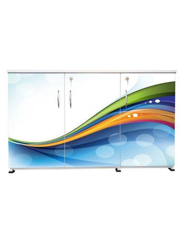 BigSmile 3 Door Multipurpose Storage Cabinet - Spiko (2.5ft x 4ft) Glossy Finish