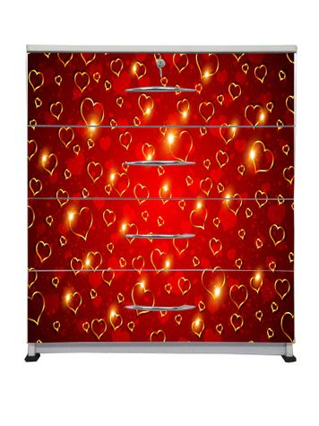 BigSmile Chest of Drawer - Golden Hearts