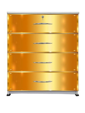 BigSmile Chest of Drawer - Golden Bars