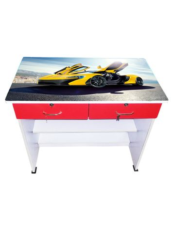 BigSmile Study Table - Yellow Ferrari
