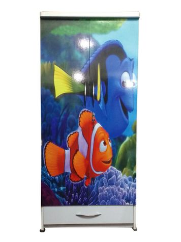 BigSmile Kids Wardrobe - Fundoo Fish (5.5ft x 2.5ft) Glossy Finish