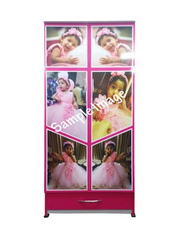 BigSmile Your Picture Kids Wardrobe - Get your son/daughters pictures on wardrobe in high gloss finish (5.5ft x 2.5ft)
