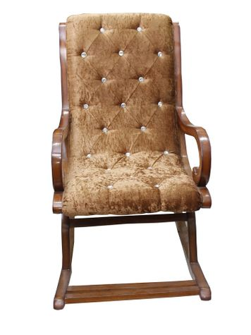 Marvella Cushioned Rocking Chair - Teak Finish