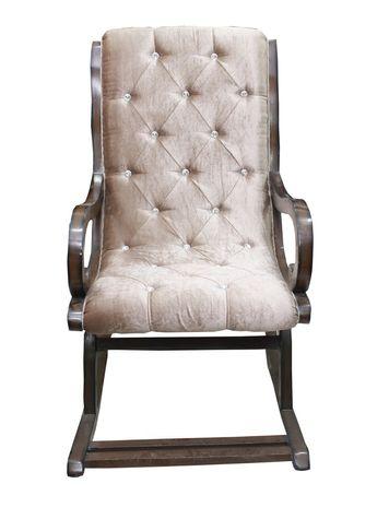 Marvella Cushioned Rocking Chair - Walnut Finish
